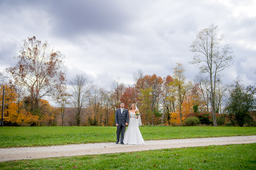 Gorgeous, unique wedding portrait in Brown County Indiana