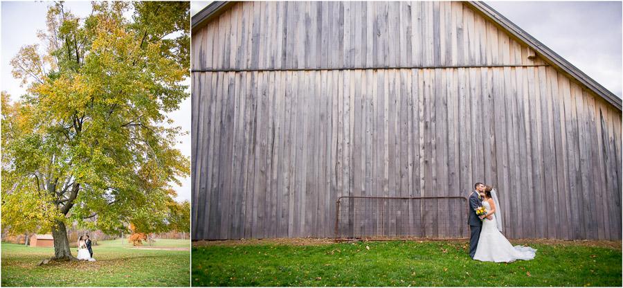 Beautiful, rustic, farm wedding photographs near Bloomington, Indiana