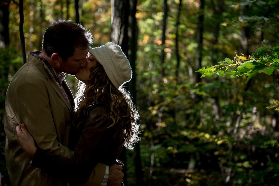Romantic, quirky, unique engagement photo