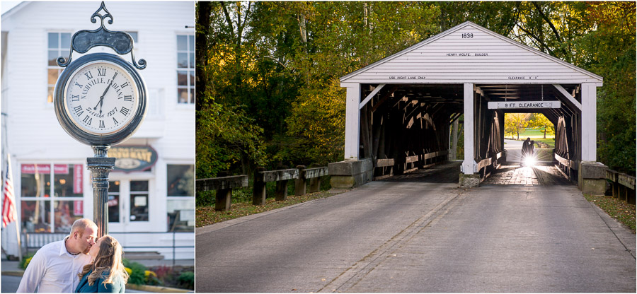 Covered Bridge Engagement Photograph