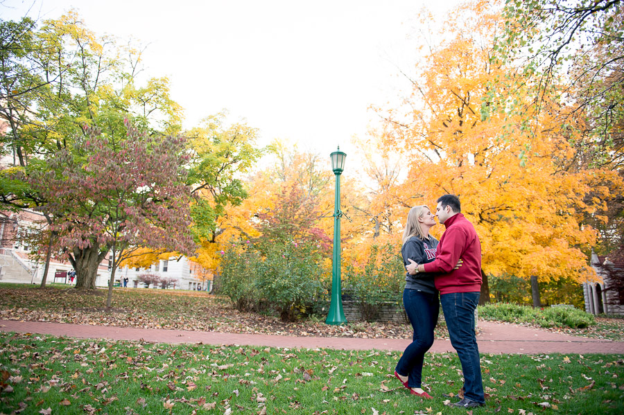 Beautiful and fun engagement photos on IU campus in Bloomington
