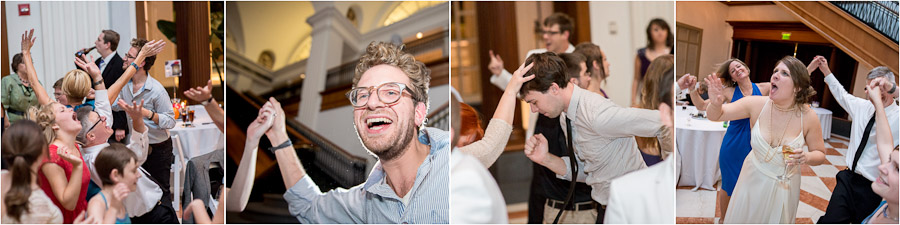 Colorful, hysterical and fun wedding dance floor photos