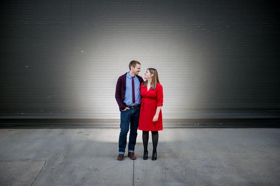 Backlit strobist engagement photo