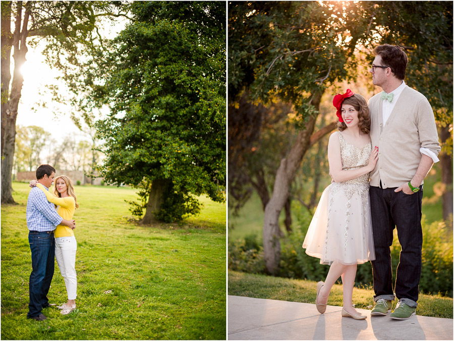 Cool and casual engagement and wedding portraits