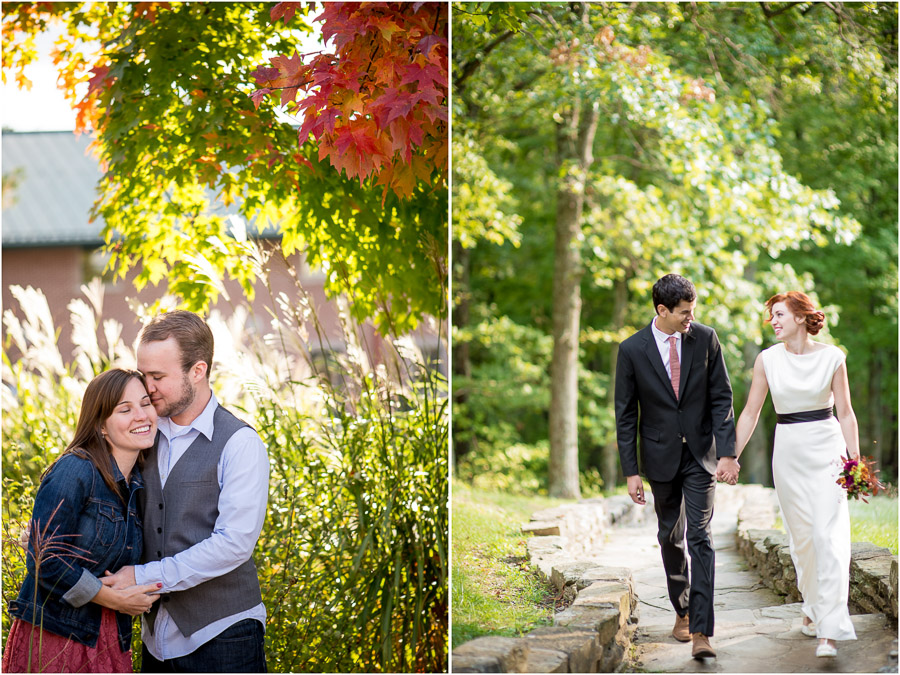 Natural, vibrant, outdoors engagement and wedding photos