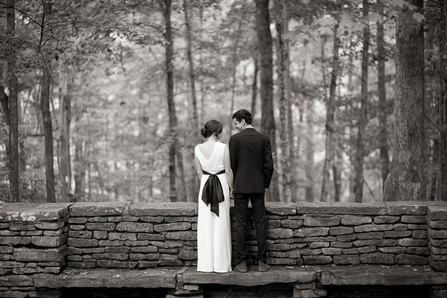 hip black and white wedding portraits