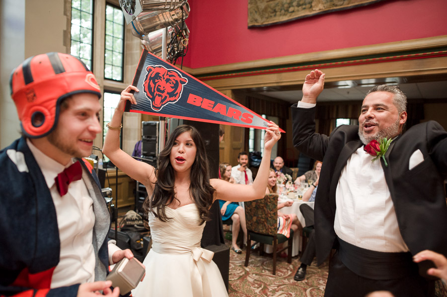 hilarious wedding moments chicago bears fans