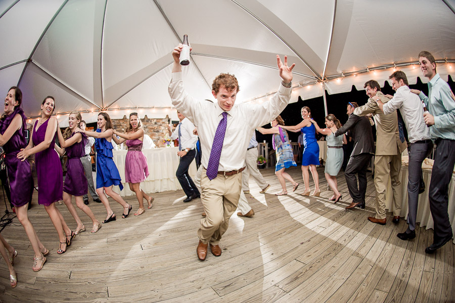 funny fisheye dance floor wedding moments