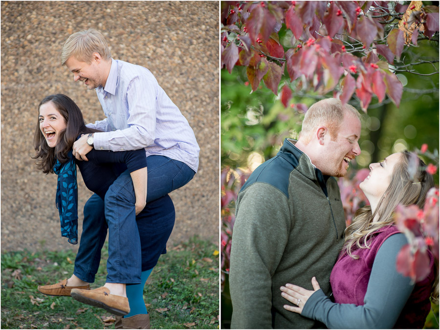 Casual Fun Laughing Engagement Photos