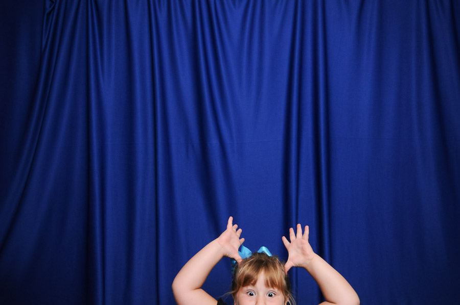 Very cute and funny kid in Indiana wedding photo booth