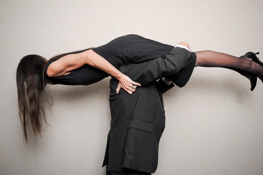 Sweet planking photo at Indianapolis wedding photobooth