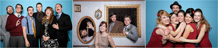 Sweet local band photos in Bloomington, Indiana photobooth