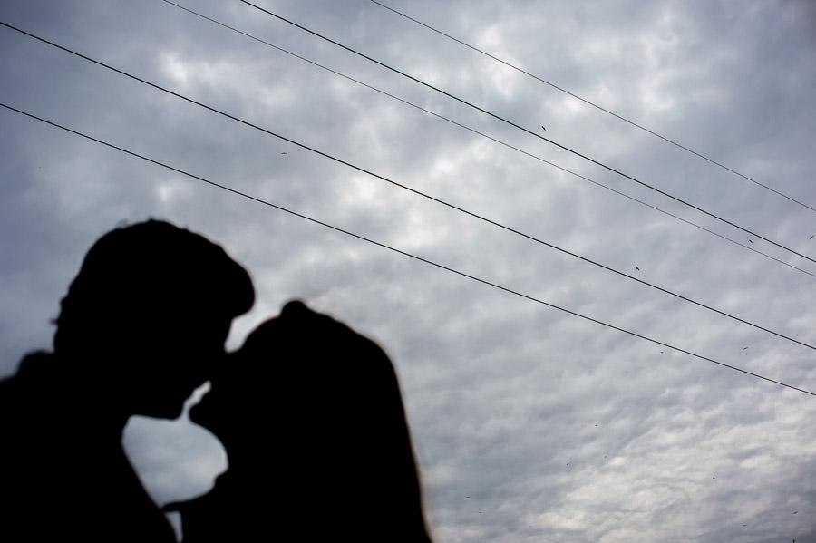 engagement photos, richmond virginia, silhouettes.
