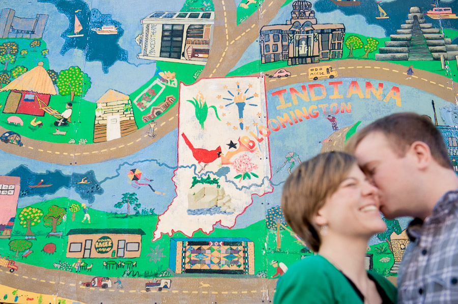 bloomington indiana graffiti engagement photos