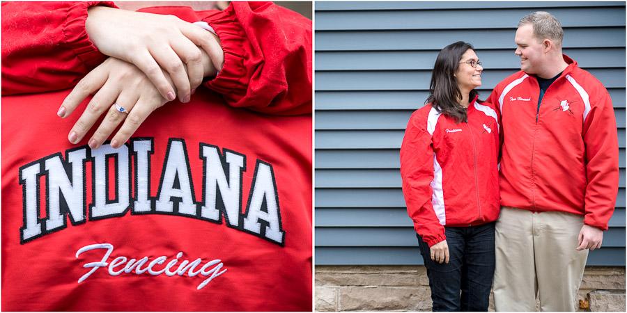 Indiana University Fencing engagement photos
