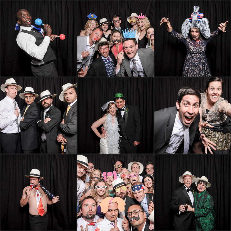 Silly, wacky, crazy, colorful photobooth photos from Tall and Small Photography
