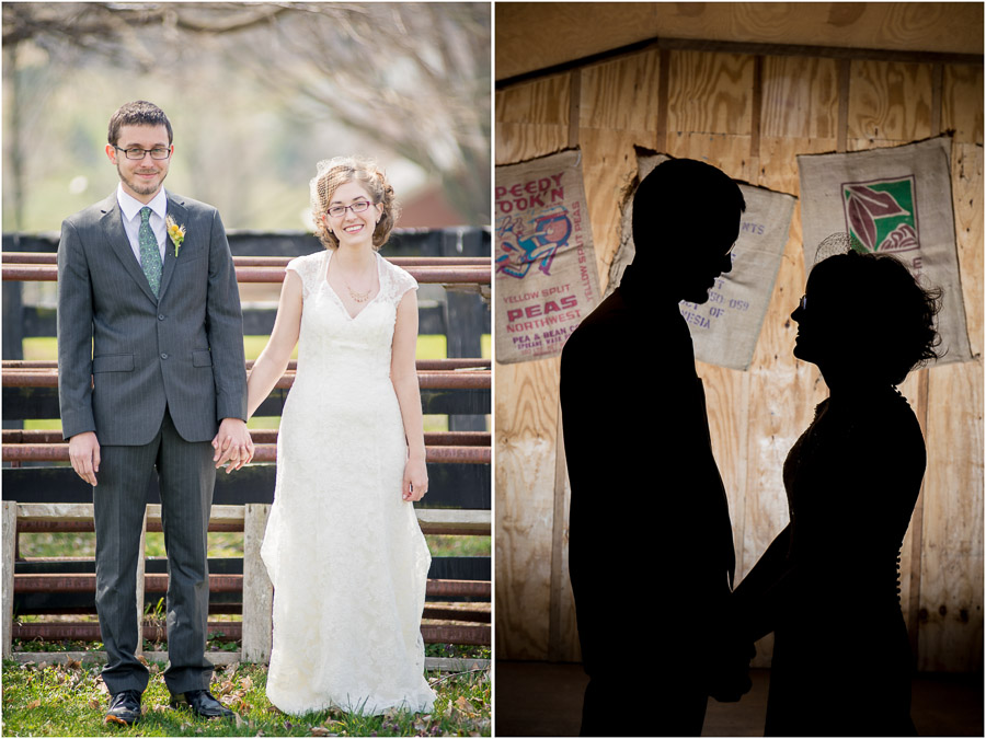 Fun, dramatic, laid-back wedding portraits at Sycamore Farms, Bloomington, Indiana