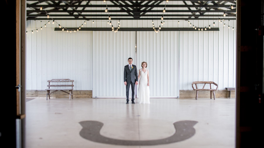 Gorgeous, unique wedding photo at farm wedding in Bloomington, Indiana
