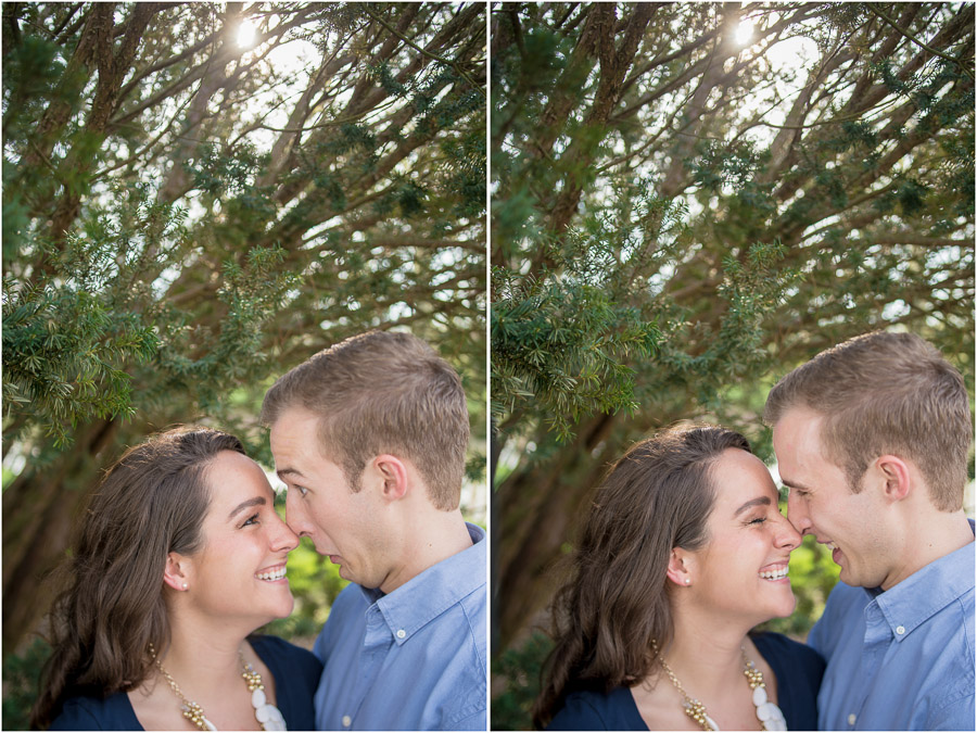 Fun, casual, silly engagement photos, Indianapolis, Butler University