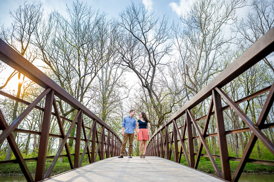 Creative, colorful, and fun engagement photos, Indianapolis