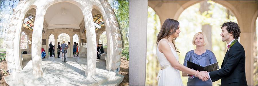 Beautiful outdoor wedding ceremony on Indiana University campus