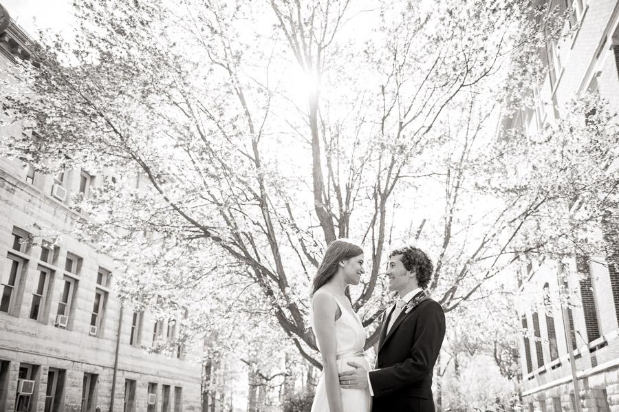 Creative, interesting wedding portraits in Bloomington, Indiana