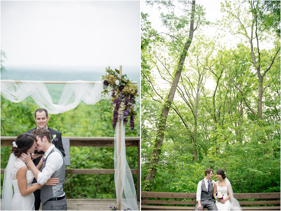 Brown County Nature Center Overlook Wedding
