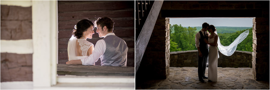 Wedding Photos at Brown County Overlooks