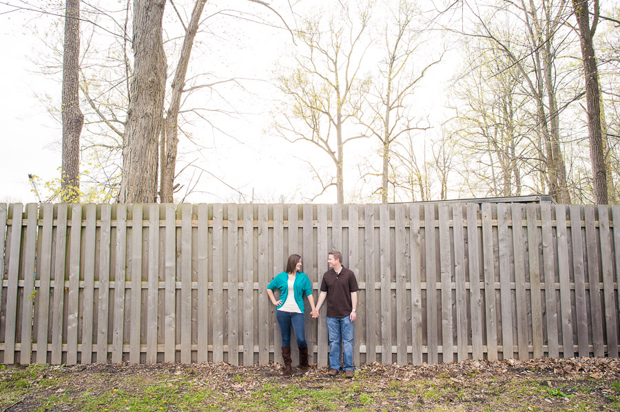 Fun, quirky engagement photos in Forest Park Indiana