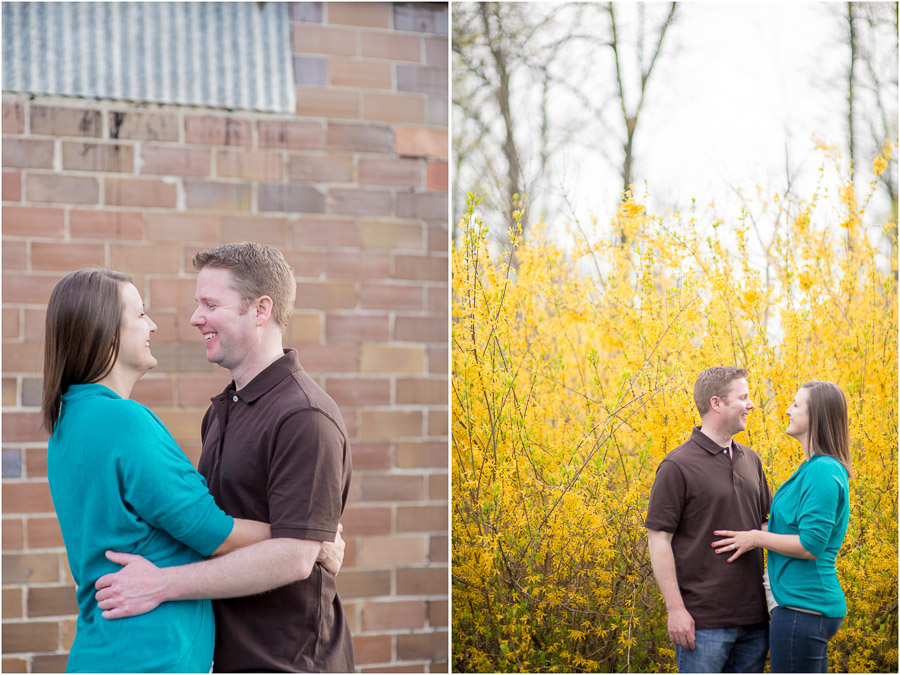 Sweet, bright, fun engagement photos in downtown Noblesville, Indiana