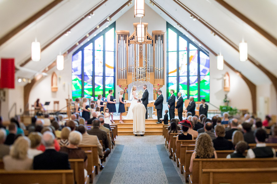 St. Louis de Montfort Catholic Church Wedding Photography, Fishers, Indiana