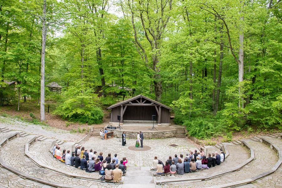 McCormick's Creek Amphitheater Wedding Photography