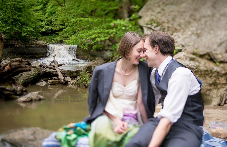 McCormick's Creek Waterfall Wedding
