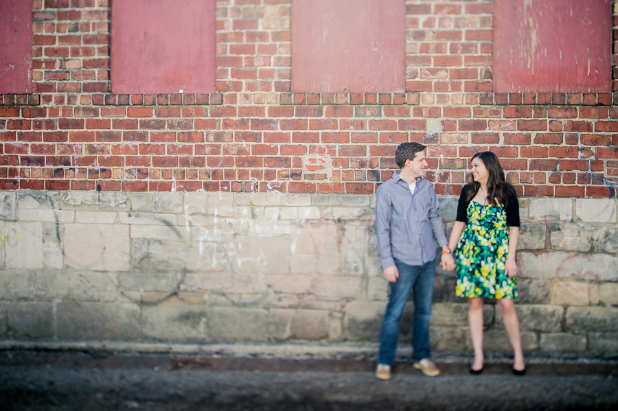 edgy, creative, urban engagement photography in Bloomington Indiana