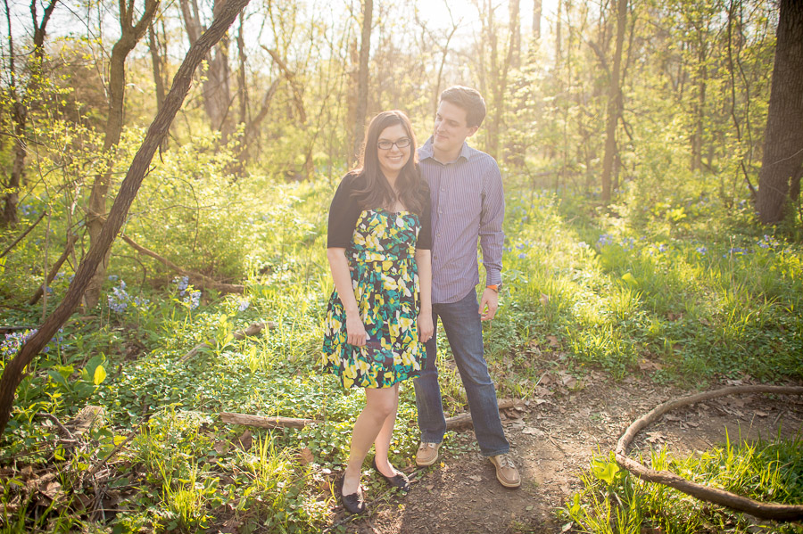 Romantic, fun, outdoor wedding engagement photography in Bloomington Indiana