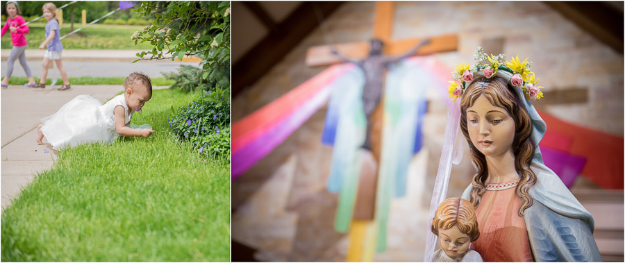 Cute, colorful, kids and wedding details at Indianapolis Wedding