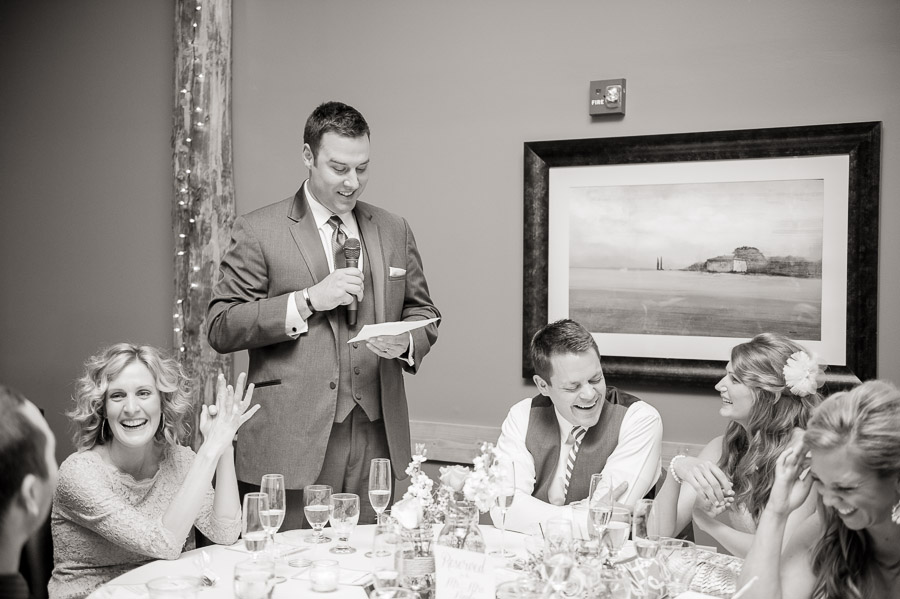 funny best man speech photo at indiana wedding