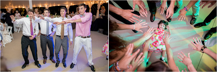 quirky, fun, wacky wedding dance photos at east coast wedding