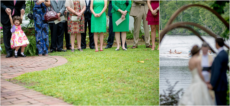 quirky photos of waterfront east coast wedding
