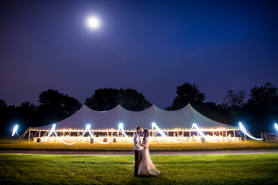 creative and fun light painting portrait of wedding couple in Indianapolis Indiana