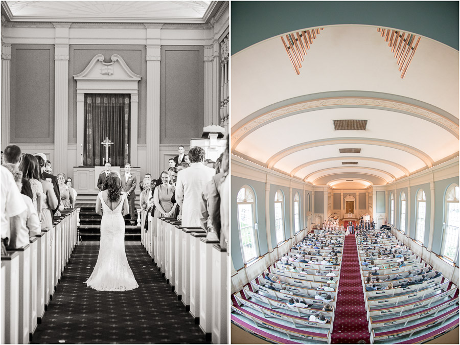 Gorgeous, dramatic, creative wedding ceremony photography in Indianapolis