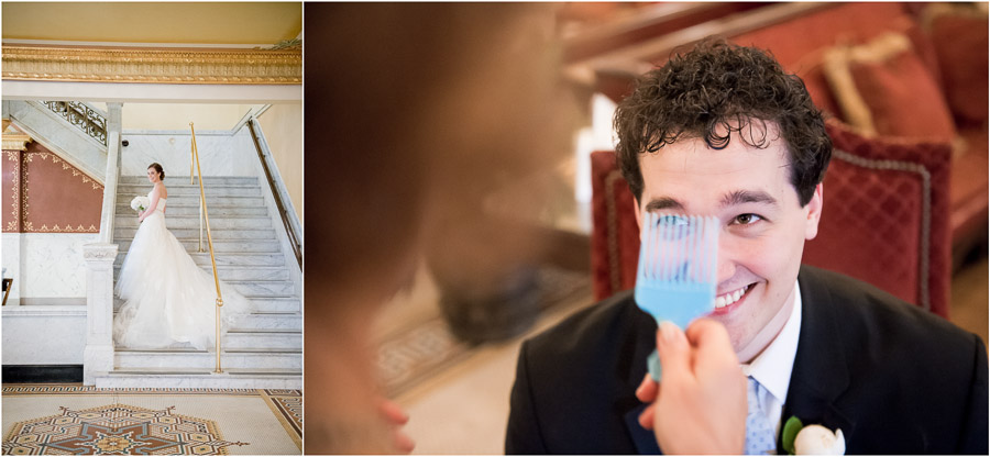 Heather + Alex prepping for their French Lick wedding!