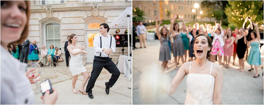 Fun dancing at French Lick Hotel wedding