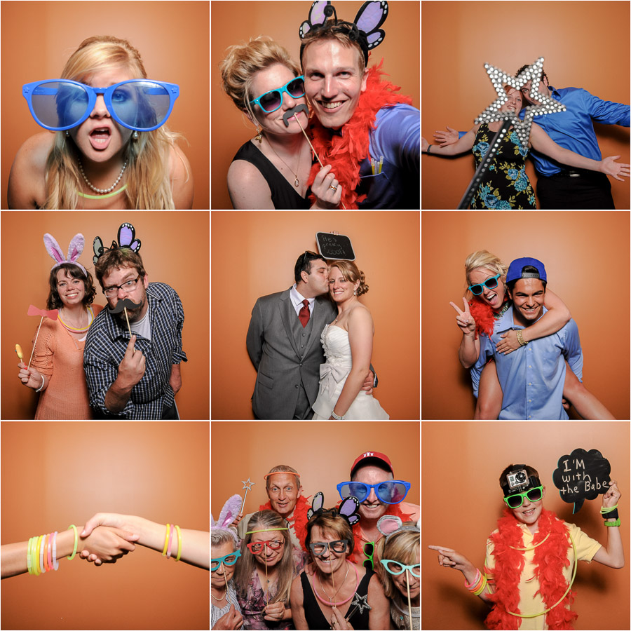 fun, silly, colorful, wacky photobooth montage in Bloomington, Indiana