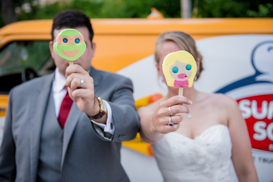 creative, funny, ice cream truck at wedding photo in Indiana