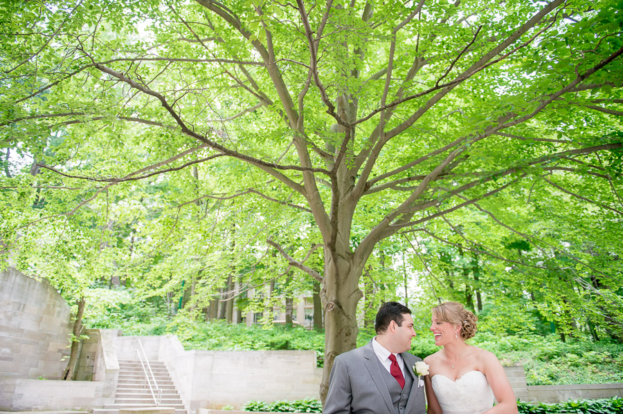 romantic, fun, creative, wedding couple on IU Bloomington campus