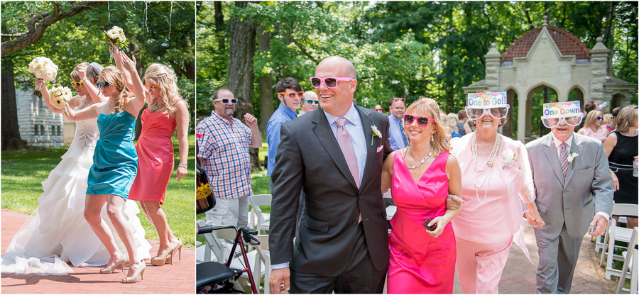 Funny, sweet candids of family members at outdoor, Bloomington, Indiana wedding