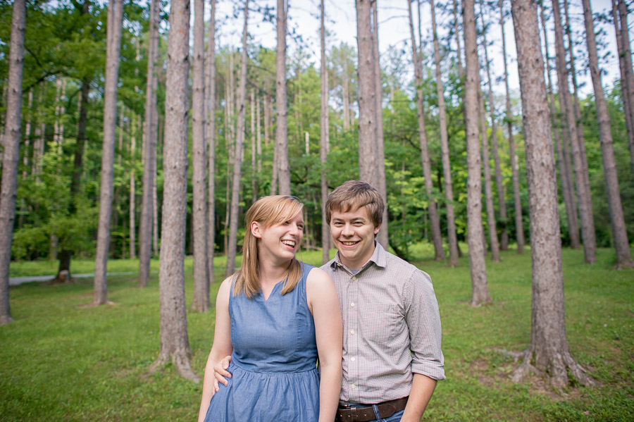 Engagement photo in Yellowwood State Forest