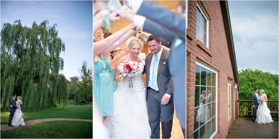 Both Candid and Fun, Posed wedding pics at the Fields in Bloomington, IN