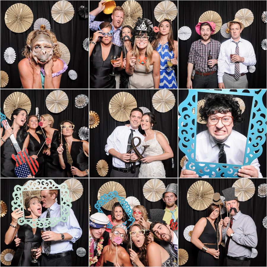 Awesome photobooth action from louisville wedding